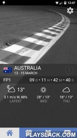 Project F  Android App - playslack.com , Stay ahead in the ever-changing world of Formula 1 and never miss another grand prix session againFeatures include:• 2015 F1 calendar• GP timetable with notification reminders• Circuit info, diagram + map link• Countdown timer for the next session• Current + upcoming weather conditions• Latest news from the best F1 sources• Driver + constructor standings• Qualifying + race results• Option to remove the banner advert