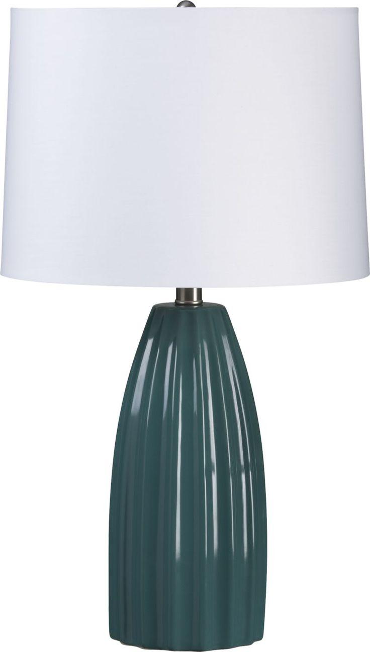 Ella Teal Table Lamp    Crate and Barrel