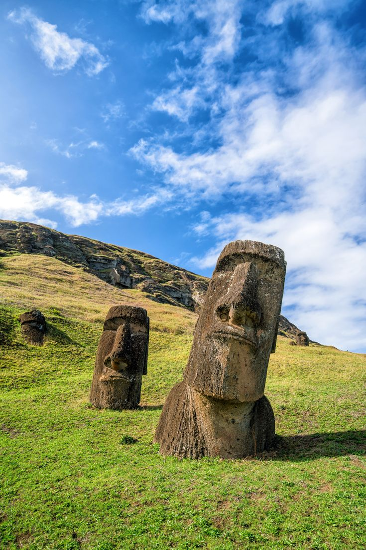 Easter Island in Chile is a UNESCO World Heritage Site.