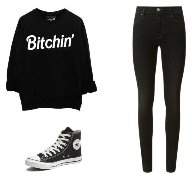 """Teen Wolf Amelia - Smoke and Mirrors"" by jemjem21 on Polyvore featuring J Brand and Converse"