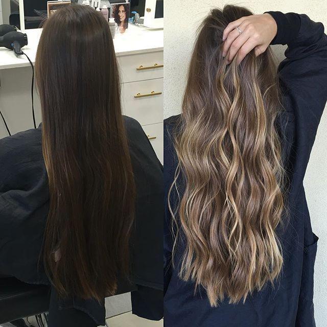 I wish I could hair paint virgin hair all day long #hairpainting #balayage #highlights #brunette #blonde #caramelhair #longhair #azhairstylist #behindthechair #modernsalon #americansalon #maneaddicts #hairstyles