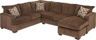 Brenton Court 2 Pc Cocoa Sectional