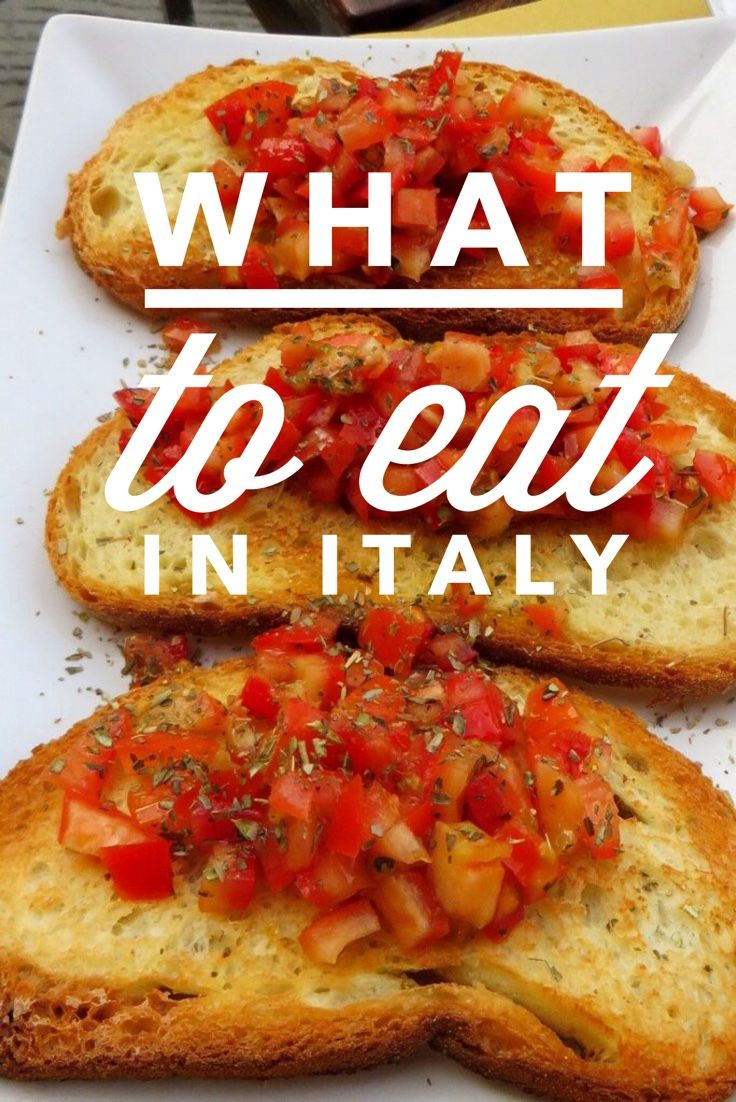 To eat in italian
