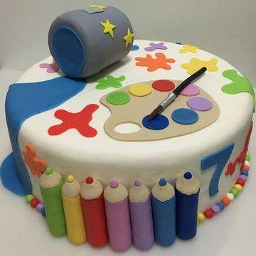 Fizemos essa seleção com muito carinho para você criar atividades educativas para as crianças. Topo de bolo pintando o sete no Elo7   DecorArtes em