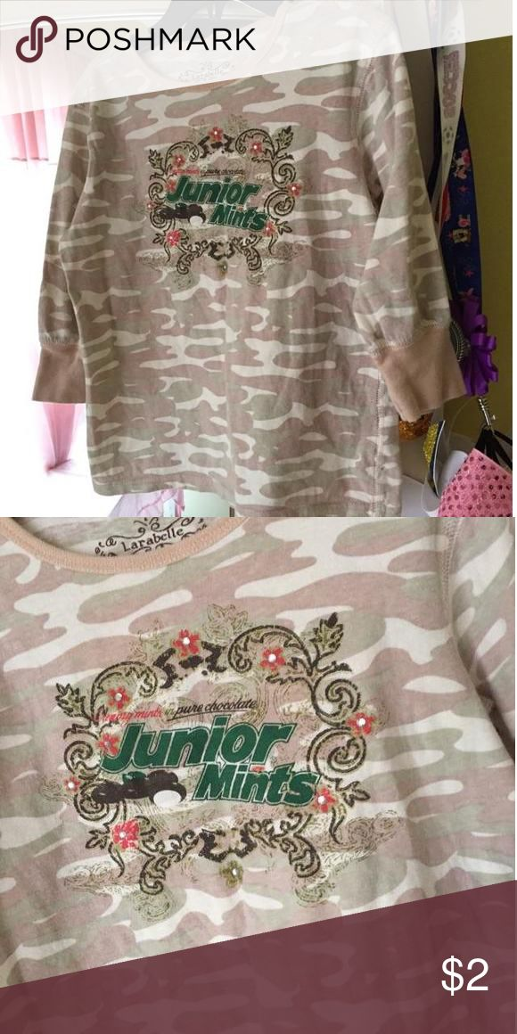 Junior mint shirt 3/4 sleeve junior mints shirt.. Great to just hang out size small 5 Dresses