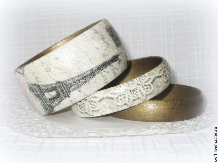 Купить 4 браслета из дерева Путешествие в Париж (Оливковый, серый, хаки) - женский браслет