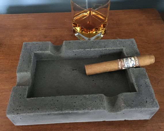 Concrete Cigar Ashtray GIfts for men Christmas by AmericanStoneRVA