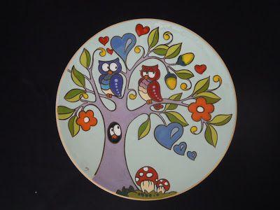 ceramica come mestiere: Piatti da parete in cuerda seca.