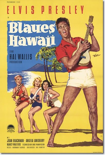 Elvis Presley's eighth film was 'Blue Hawaii', filmed in the tropical paradise of the Hawaiian islands of Oahu and Kauai. 'Blue Hawaii' was Elvis' biggest commercial success. With 14 songs, more than any other Elvis film, the soundtrack album spent a total of 79 weeks on Billboard's pop album chart, with 20 of those weeks at #1. Blue Hawaii, a musical comedy originally tided Beach Boy, became the most successful film of Elvis Presley's career.