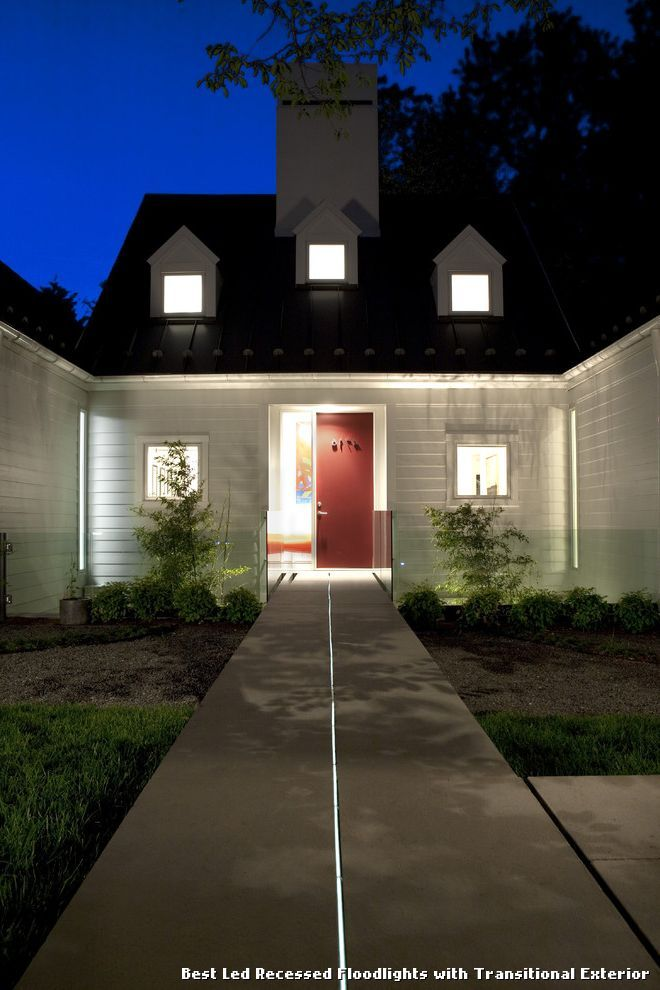 Best Led Recessed Floodlights with Transitional Exterior, kitchen lighting from Best Led Recessed Floodlights