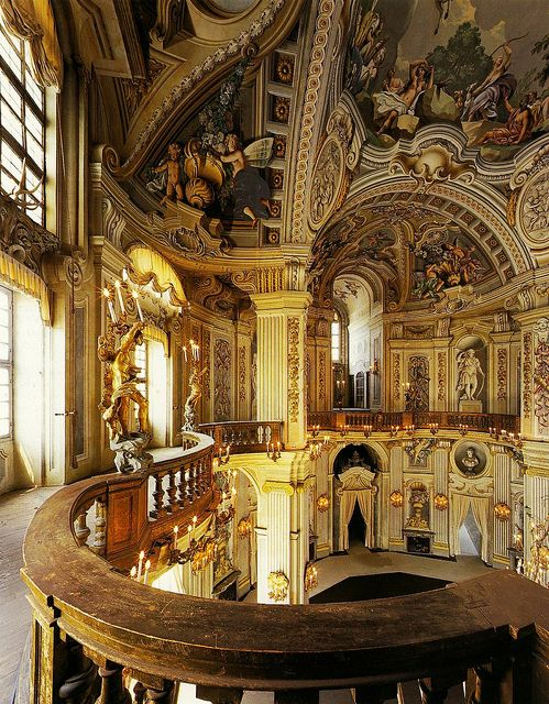 Filippo Juvarra, Stupinigi Hunting Lodge, 1729-33, main hall staircase. by arthistory390, via Flickr
