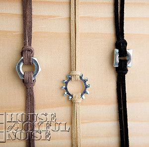 weekend craft, get colored leather cord for girls
