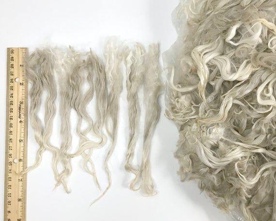 RAW 8-9 inch Suri Alpaca locks, 8. White, reroot Blythe hair bjd Waldorf doll wig long weft Minifee sd msd