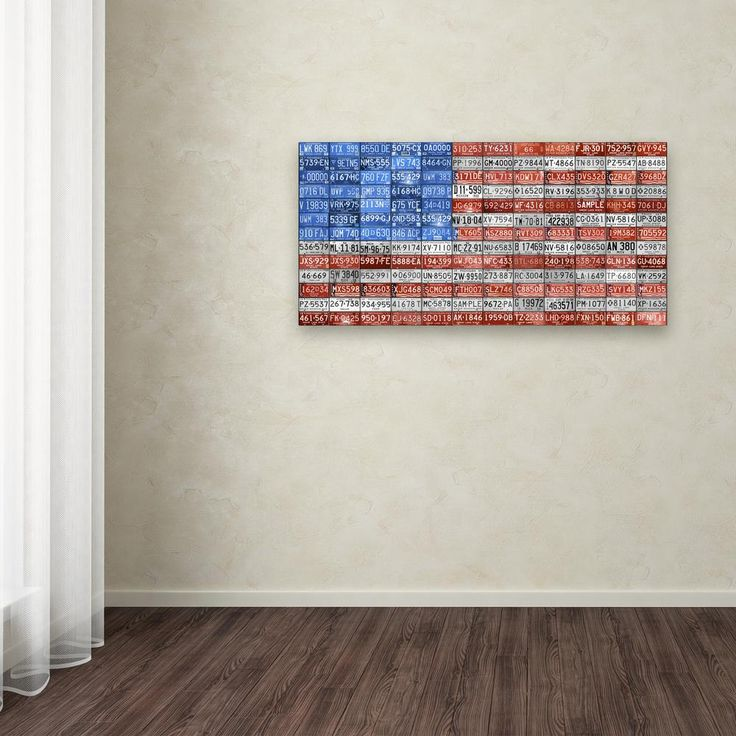 """16 in. x 32 in. """"Michigan Flag"""" by Design Turnpike Printed Canvas Wall Art"""