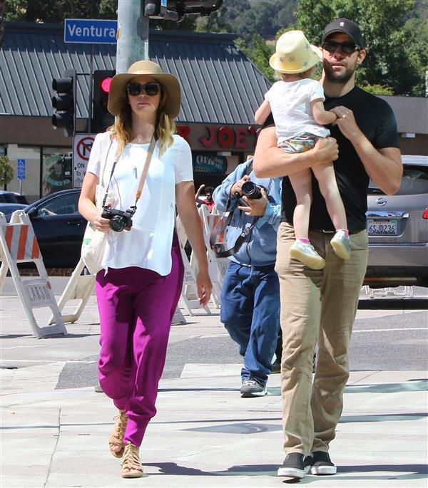 Emily Blunt and John Krasinski with Hazel Krasinski are spotted out and about in Los Angeles on May 22, 2016.