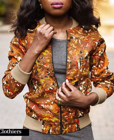 African Print (Ankara) Bomber Jacket. This African Print Bomber Jacket is a trendy replacement for your regular coat this Fall.  Jacket available to order in an array of African print fabric choices. Ankara | Dutch wax | Kente | Kitenge | Dashiki | African print bomber jacket | African fashion | Ankara bomber jacket | African prints | Nigerian style | Ghanaian fashion | Senegal fashion | Kenya fashion | Nigerian fashion | Ankara crop top (affiliate)