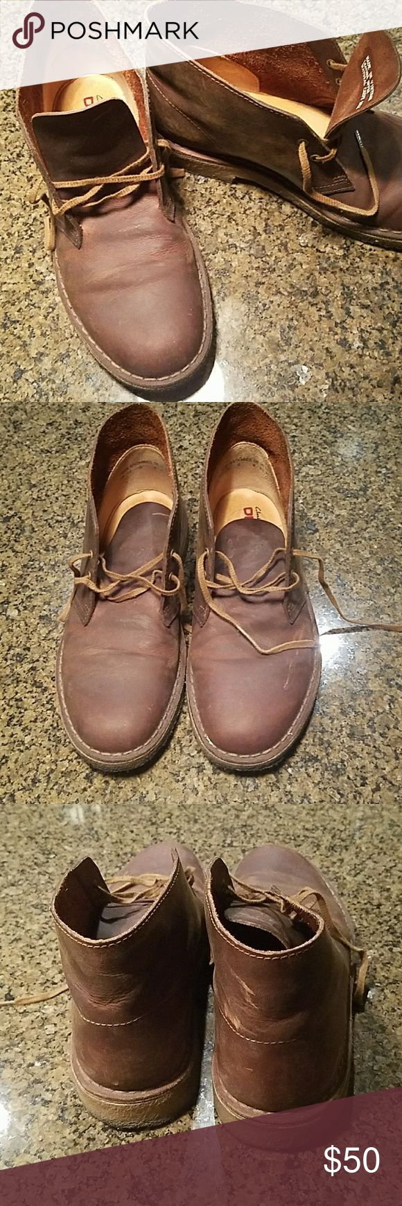 Clarks Originals Men's Desert Boot- Leather Used pair of Clarks Originals Men's Desert Boots in beeswax leather in good condition. Clarks Shoes Chukka Boots