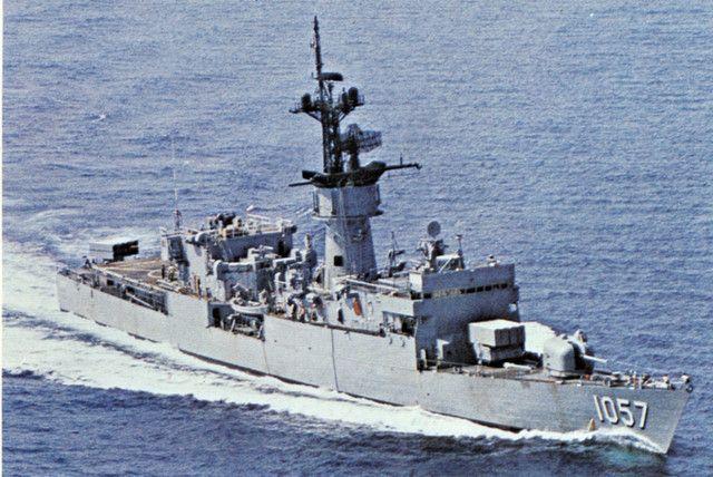 USS RATHBURNE (FF-1057) Fast Frigate. 3rd ship; 2nd deployment; 2nd decommissioning