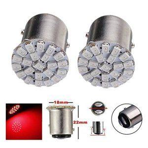 AUDEW 2 X 1157 T25-BAY15D 22-1206SMD LED Ampoule Auto Feu Freins/Conduite/Arrière/Recul/Clignotant/Signal P21W S25 Voiture Lampe DC 12V…