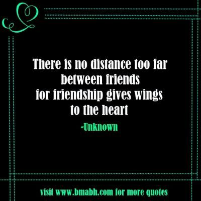 Long Distance Friendship Quotes With Pictures On www.bmabh.com -There is no distance too far between friends. Follow us at https://www.pinterest.com/bmabh/ for more awesome quotes.