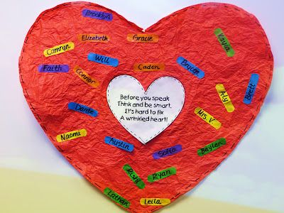 """It's Hard to Fix a Wrinkled Heart"" Activity to Go with Book, Chrysanthemum by Kevin Henkes"
