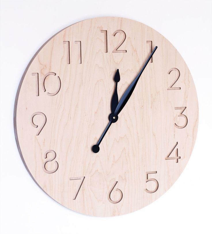 Die besten 25+ Large modern wall clocks Ideen auf Pinterest - moderne wanduhren wohnzimmer