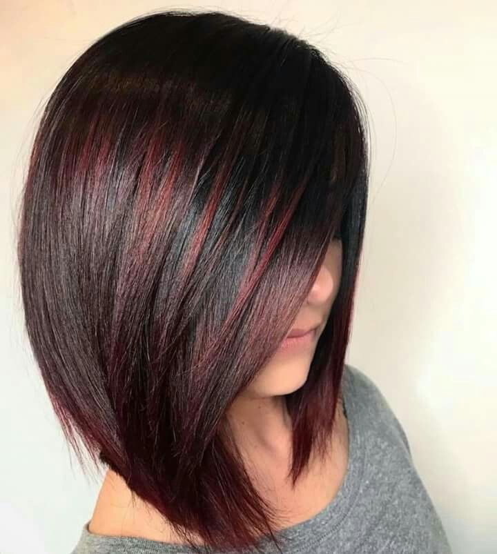 Black With Red Highlights Hair Styles Short Textured Hair Hair Color