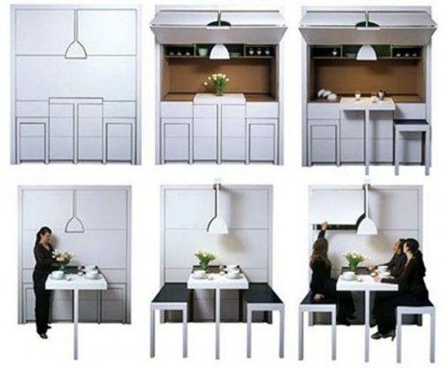 Hidden Dining Room Wall Furniture