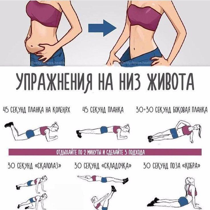 Задания Для Похудения Живота. 20 самых эффективных упражнений для похудения живота и боков