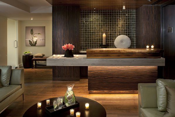 spa reception receptions and spas on pinterest boutique reception counter