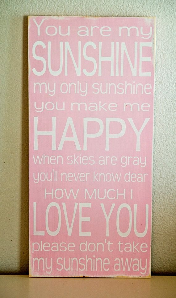 You Are My Sunshine Sign Distressed Sunshine Sign by WordWhipped, $60.00: