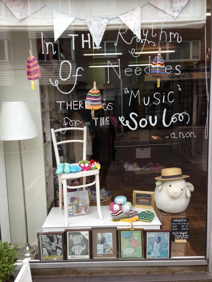 Craft & Yarn Shop display - The Knit Club Jun '13.
