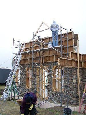How to build a small slipform stone cottage