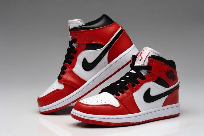Beautiful Lastet Nike Air Jordan 1retro PRE Ženy Topánky Biela Červená Na Predaj Hot Predaj: Air Jordan S