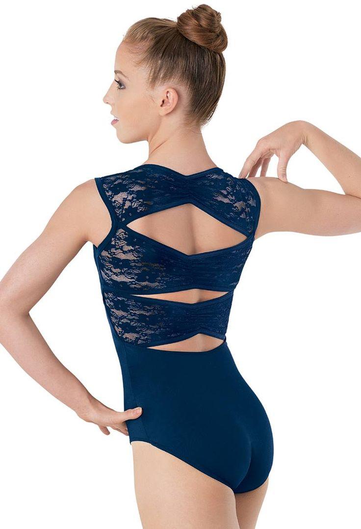 Lace Pinch-Back Leotard   Balera™