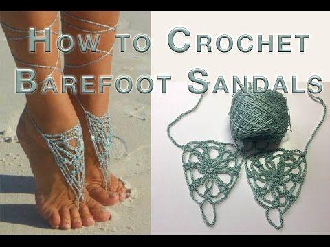 How to Crochet Barefoot Sandals Harbor Fog                                                                                                                                                                                 Más