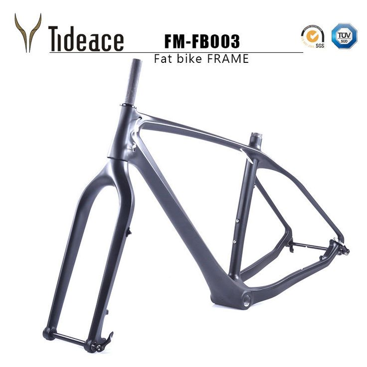T700 Full Carbon Fiber Snow Bike Fat Bicycle Frames+Fork+Headset Snow Bicycle #Unbranded