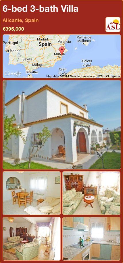 6-bed 3-bath Villa in Alicante, Spain ►€395,000 #PropertyForSaleInSpain