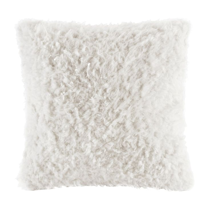 Madison Park Nova Faux Mohair Throw Pillow, Grey