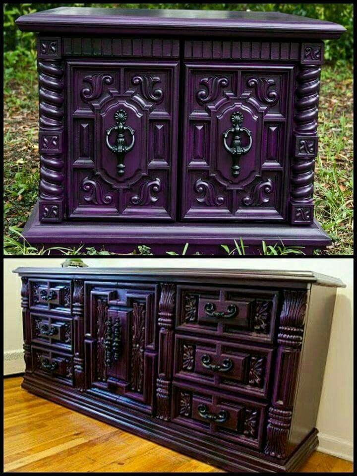 best 20+ purple dresser ideas on pinterest | purple furniture