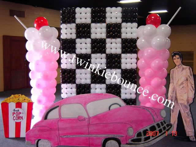 17 best images about balloons sock hop on pinterest for 50 s party decoration