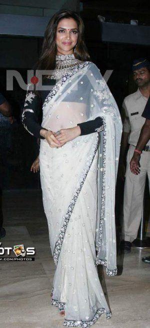White Color Net Bollywood Designer Saree VMDBR10. Sale : $114.00