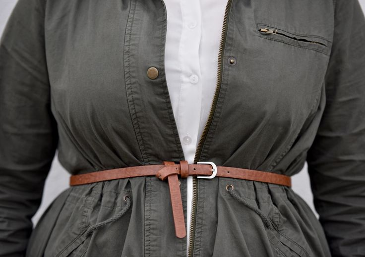 Chaqueta con cinturón de utilidad, shirtdress