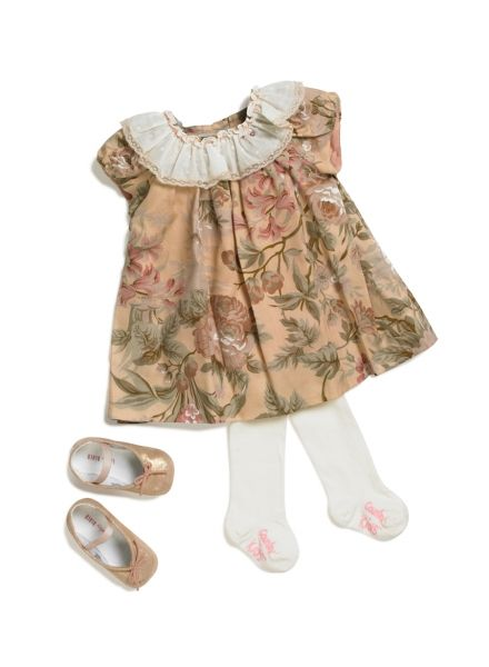WHY WE LOVE THIS NANOS BABY GIRL FLORAL DRESS; This gorgeous floral dress for baby from reknowned Spanish brand Nanos is beautifully detailed and sure to garner ooohs and ahhhs. #wonderfulchristmas