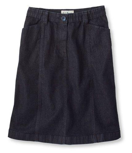 Easy Stretch Skirt, Denim: Skirts   Free Shipping at L.L.Bean