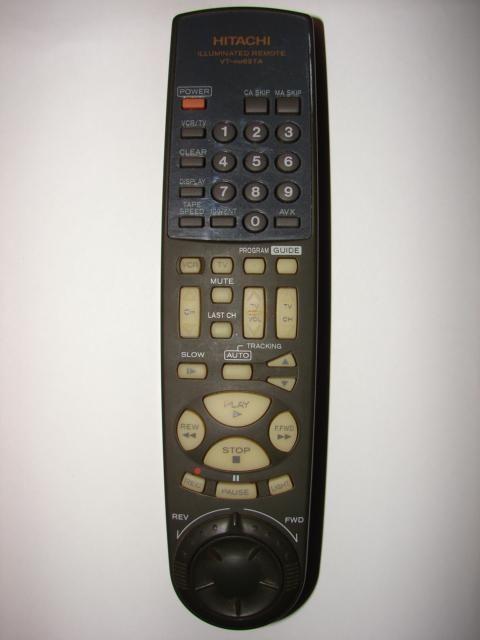 VT-RM627A Hitachi TV VCR Remote Control