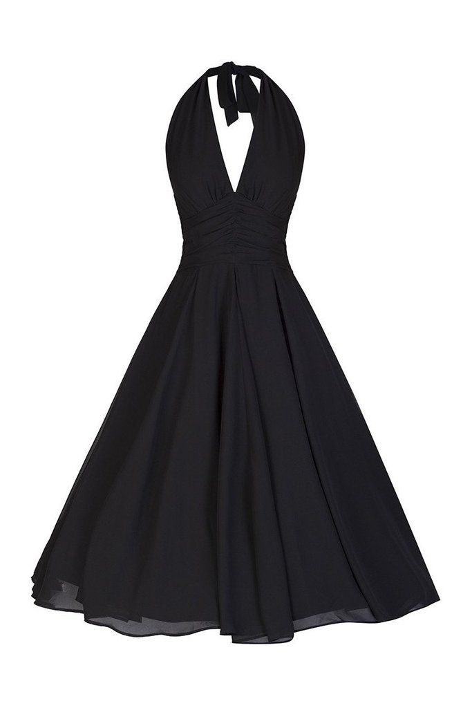Black Chiffon Marilyn Dress