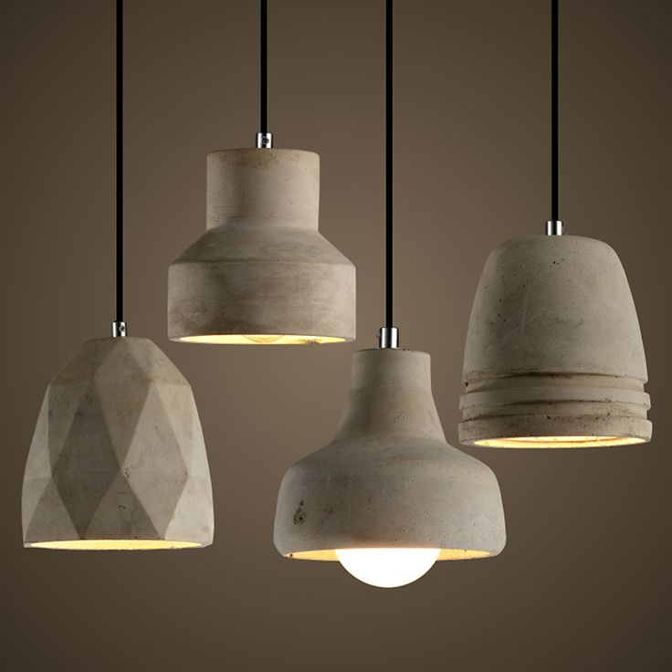 Купить товарЕвропейский стиле лофт цемент ресторан бар гостиной E27 подвесной искусство домашнего освещения подвесные светильники в категории Подвесные светильникина AliExpress.