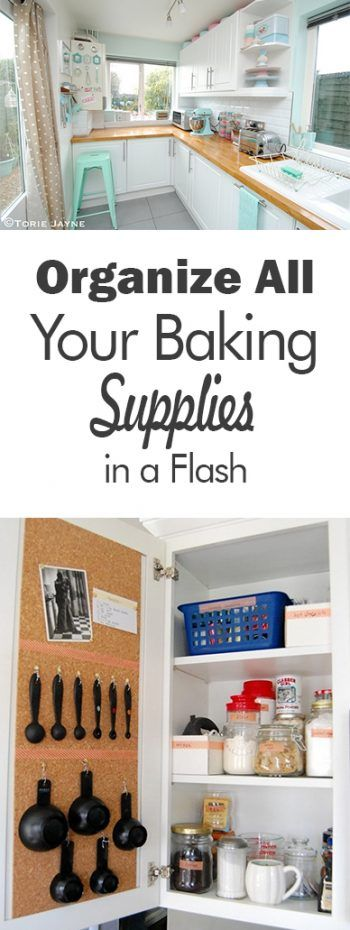 Organize All Your Baking Supplies in a Flash| How to Organize Your Baking Supplies, Baking Supply Storage, Organize and Store Your Baking Supplies, Kitchen Organization, Kitchen Organization Tips and Tricks, Organization Hacks, Popular Pin