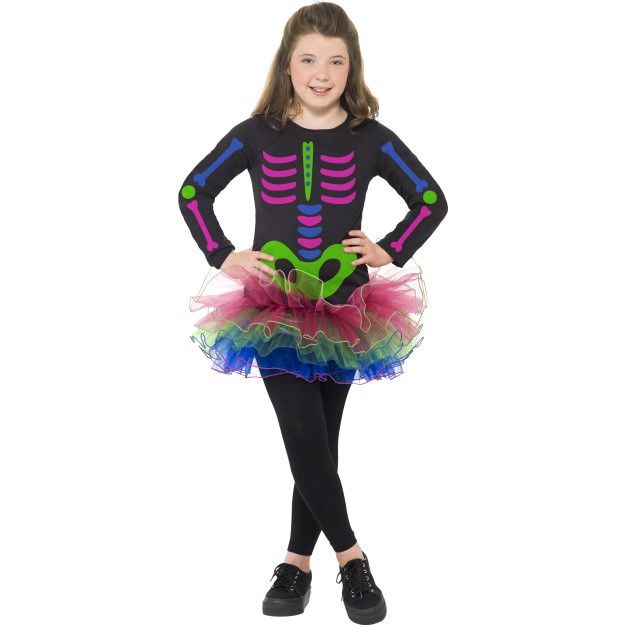 Neon Skeleton Girl Costume